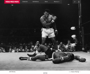 Homepage of the new World Press Photo website