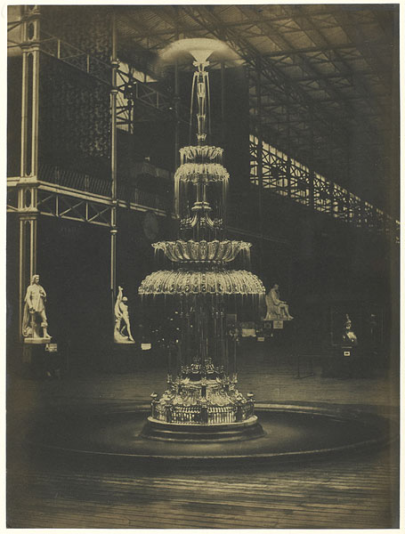 Glazen fontein in Crystal Palace, 1851, foto: C.M. Ferrier (Rijksmuseum, Amsterdam