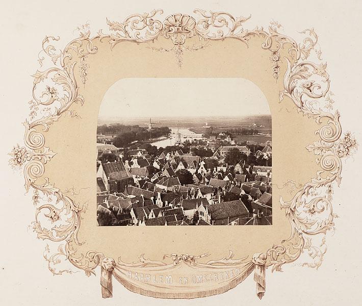 Gezicht op Haarlem vanaf de Bavo, 1858, foto: J.T. Monnik (Noord-Hollands Archief)