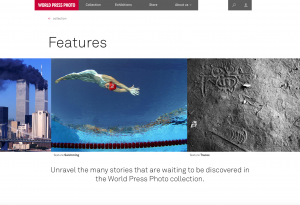 Features page World Press Photo website